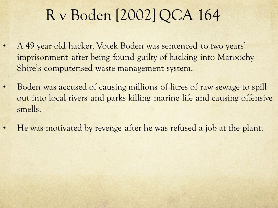 R v Boden [2002] QCA 164